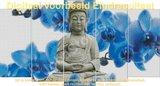 Diamond Painting Buddha Blauwe Orchidee 75x40cm_