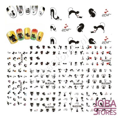 Nagel Sticker Set Katjes (220 stickers)