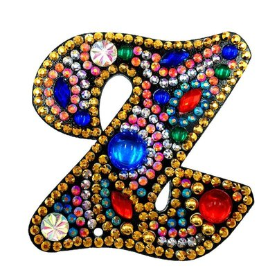 Diamond Painting Sleutelhanger Alfabet Letter Z