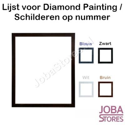 Diamond Painting / Schilderen op nummer houten lijst voor 30x40cm (Zwart)