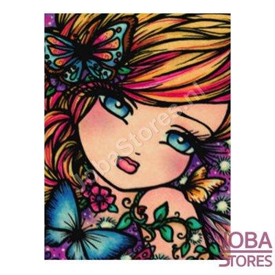 Diamond Painting Meisje met vlinders 20x25cm