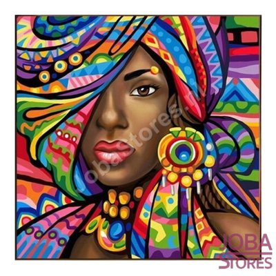 Diamond Painting Afrikaanse Vrouw 20x20cm