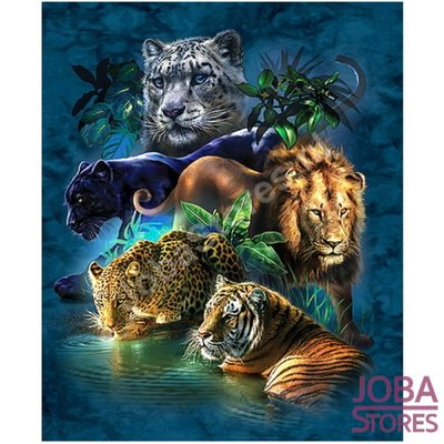 Diamond Painting Big Cats 40x50cm