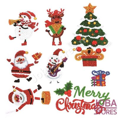 Diamond Painting Sticker Set Kerst