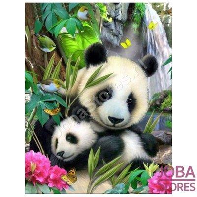 Diamond Painting Panda with cub 40x50cm