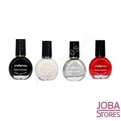 Nail Stamp Lacquer Set 01 (4 colors)