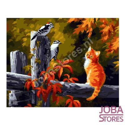 Painting by number Autumn Cat 40x50cm (Color Canvas)
