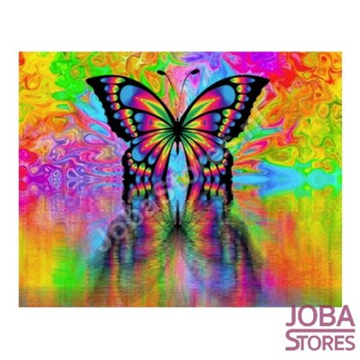 Painting by number Butterfly 40x50cm (Color Canvas)