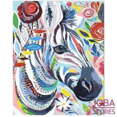 Painting by number Zebra 40x50cm (Color Canvas)