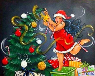 OP=OP Diamond Painting Dikke Dames 13 40x50cm - vierkant *Kerst Tip*