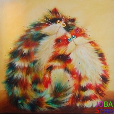 Diamond Painting Crazy Cats 08 30x30cm