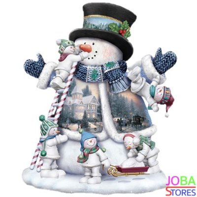OP=OP Diamond Painting Sneeuwpop 30x40cm