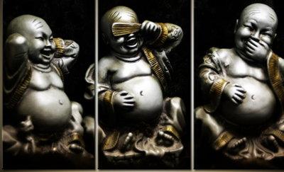 Diamond Painting Horen-Zien-Zwijgen Buddha 60x40cm