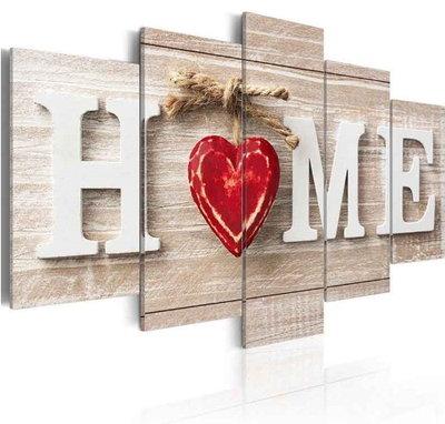 Diamond Painting Home Rood 100x50cm