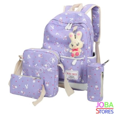 OP=OP Schooltassen Set Bunny Lila (5-delig)
