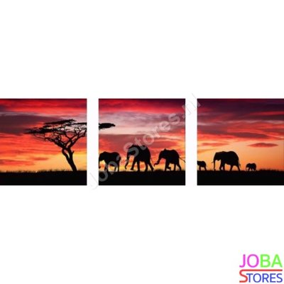 Diamond Painting Olifant 3 luiks 60x20cm