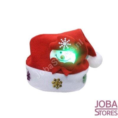 OP=OP Led Kinder Kerstmuts Sneeuwpop