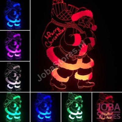 3D Illusie Lamp Kerstman (7 kleuren instelbaar)