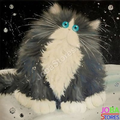 Diamond Painting Crazy Cats 12 30x30cm