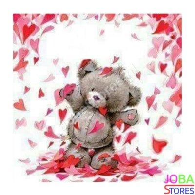Diamond Painting Teddy Love 30x30cm