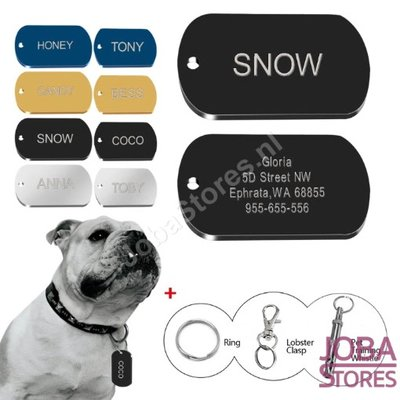 Custom Honden Penning Dog Tag