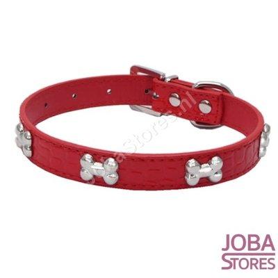Honden Halsband Botjes Rood S