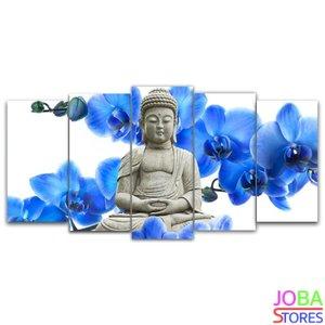 Buddha Blauwe Orchidee 75x40cm